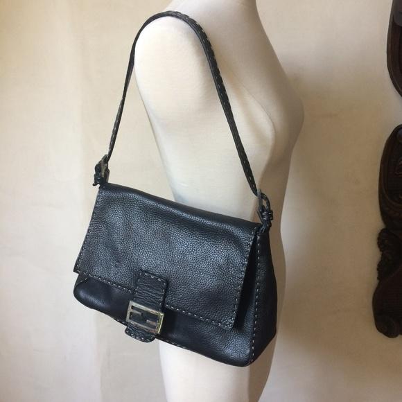 df08e2015e88 FENDI Handbags - FENDI 1925 Black Leather Shoulder Bag